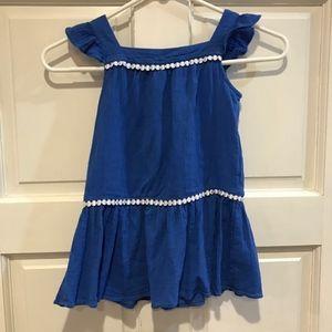 Janie and Jack Girls 3T Royal Blue Dress Ruffle